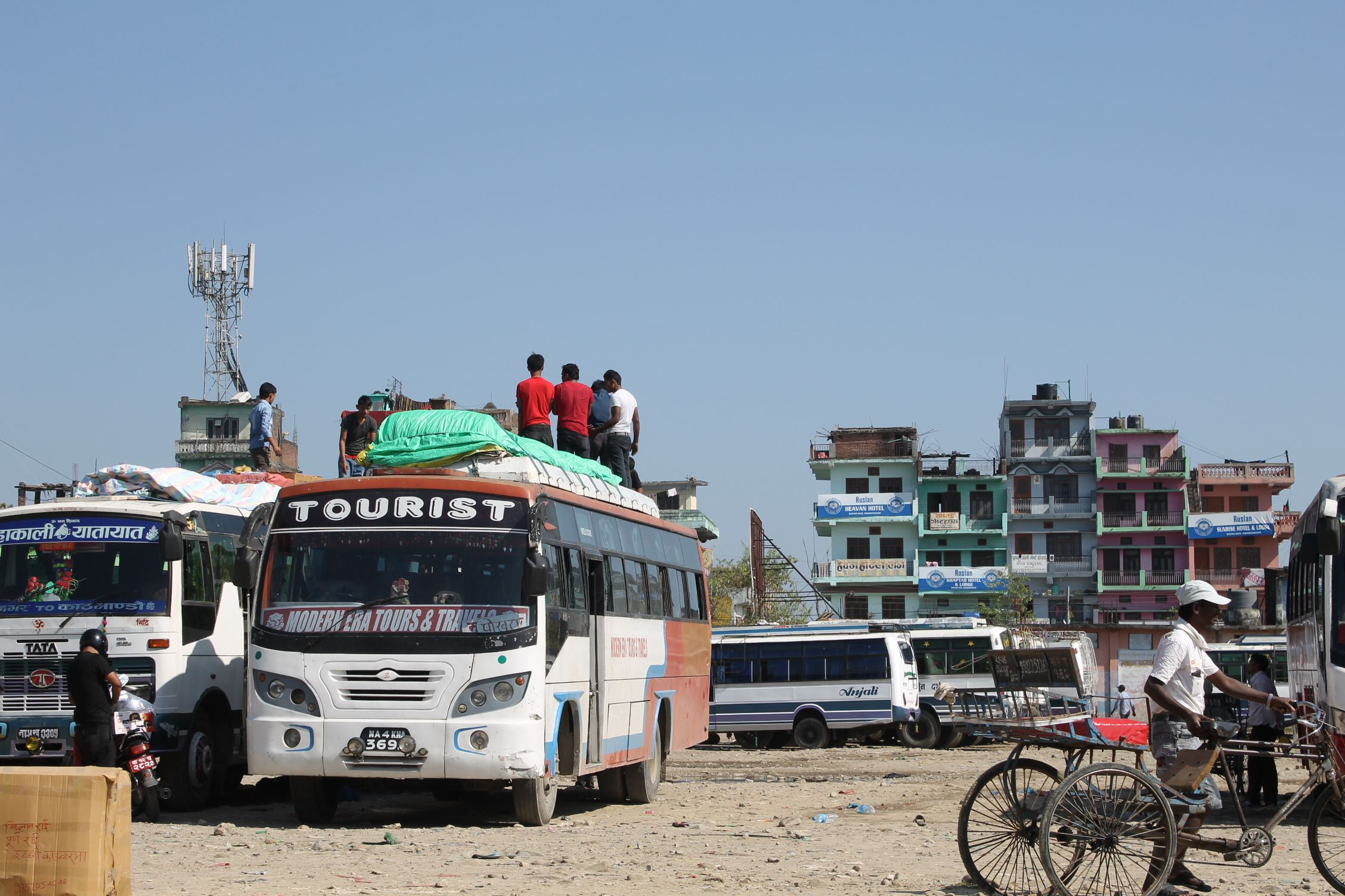 En Mahendranagar (Nepal) tras cruzar la frontera con India