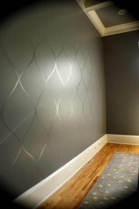 Use A High Gloss Paint Over Top Of A Flat Paint To Create A Subtle Design