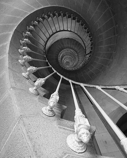 Photographie Architecture Noir Blanc Spirale Escalier