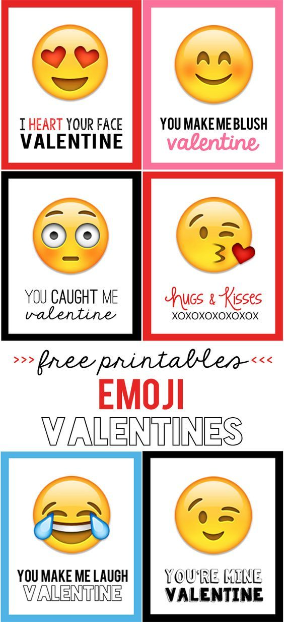 Emoji Valentines - My Sister\'s Suitcase - Packed with Creativity ...