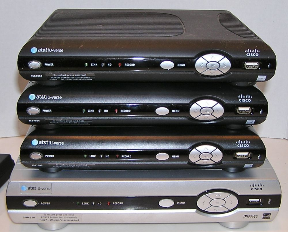 hight resolution of at t u verse cisco wireless hdtv receiver isb7005 isb7000 ipn4320 lot of 4 boxes cisco