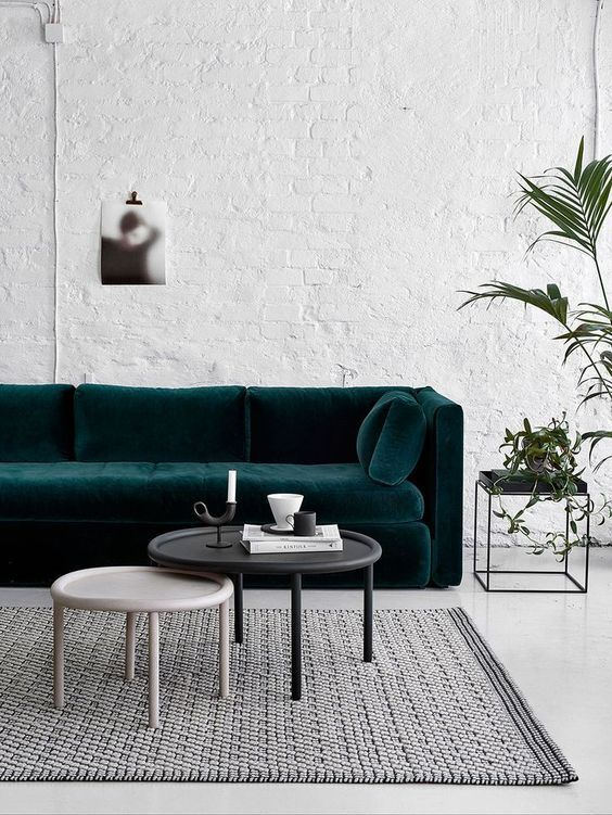 What Teal Color And How You Can Use It In Your Home Decor · Green Velvet  SofaGreen SofaBlue CouchesInterior Design Living RoomModern ...