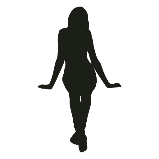 Woman Sitting Silhouette Front View Ad Affiliate Paid Sitting View Front Woman Silhouette Woman Silhouette Women