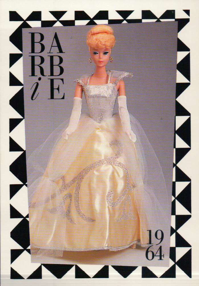 "Barbie Collectible Fashion Trading Card  /"" Formal Occasion /""  Gold Cape etc 1967"