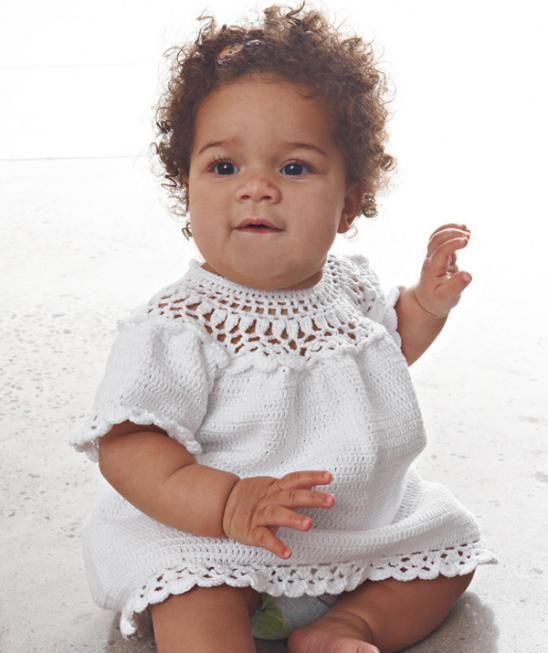 Baby-Häkelkleid, S7316 Gratisanleitung: