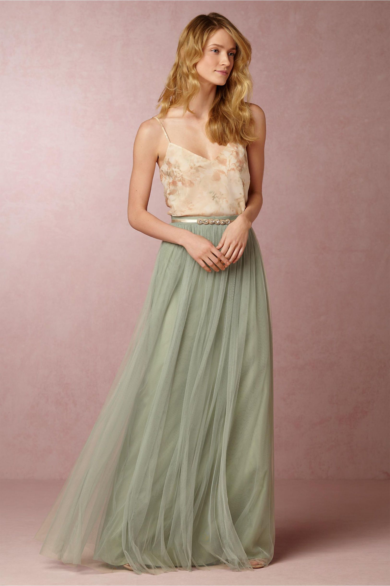 Trauzeugin Kleid Glitzer Bhldn Liv Cami Louise Tulle Skirt In Bridesmaids View All