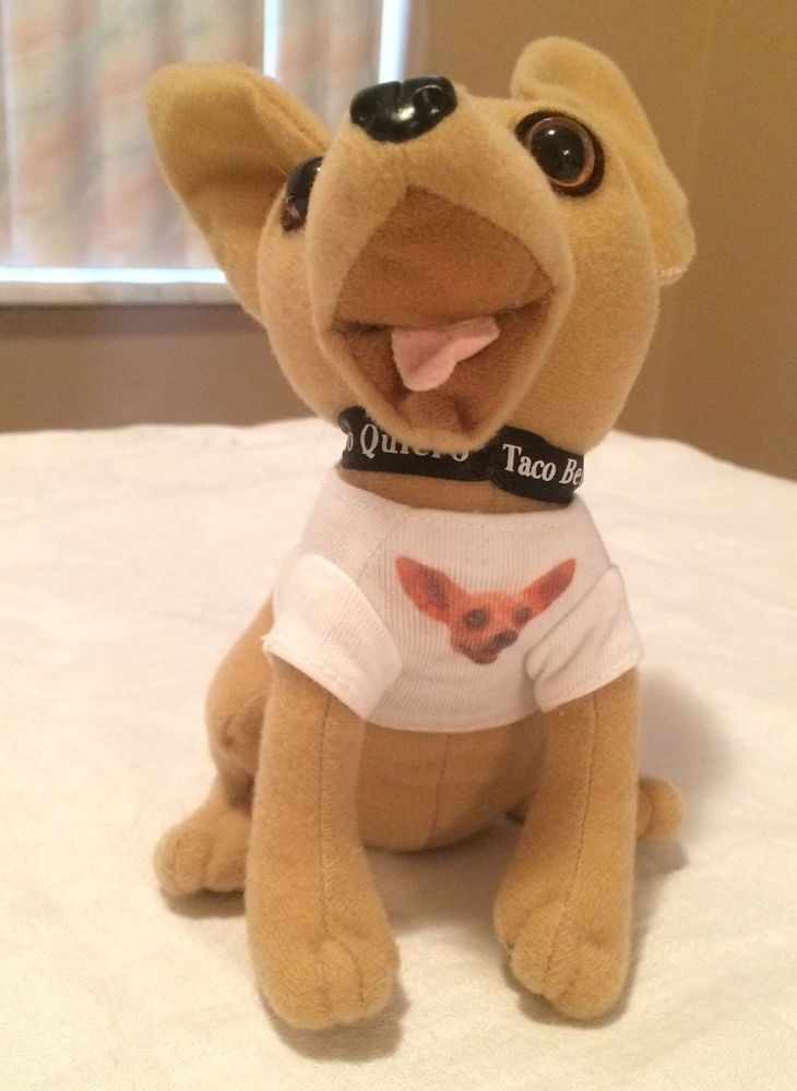 "Taco Bell Chihuhua 6"" Plush Talking Dog T Shirt ""How Cool is This?"" Applause #Applause"
