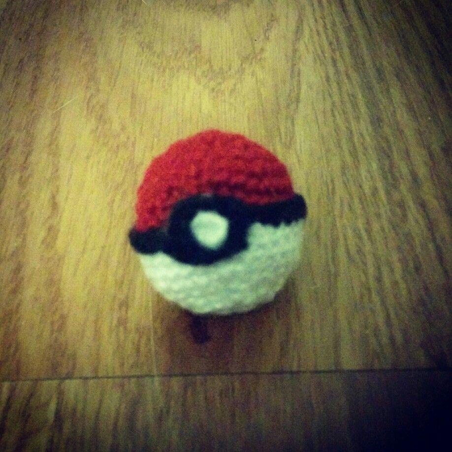My first crochet pokeball | my crochet creations | Pinterest