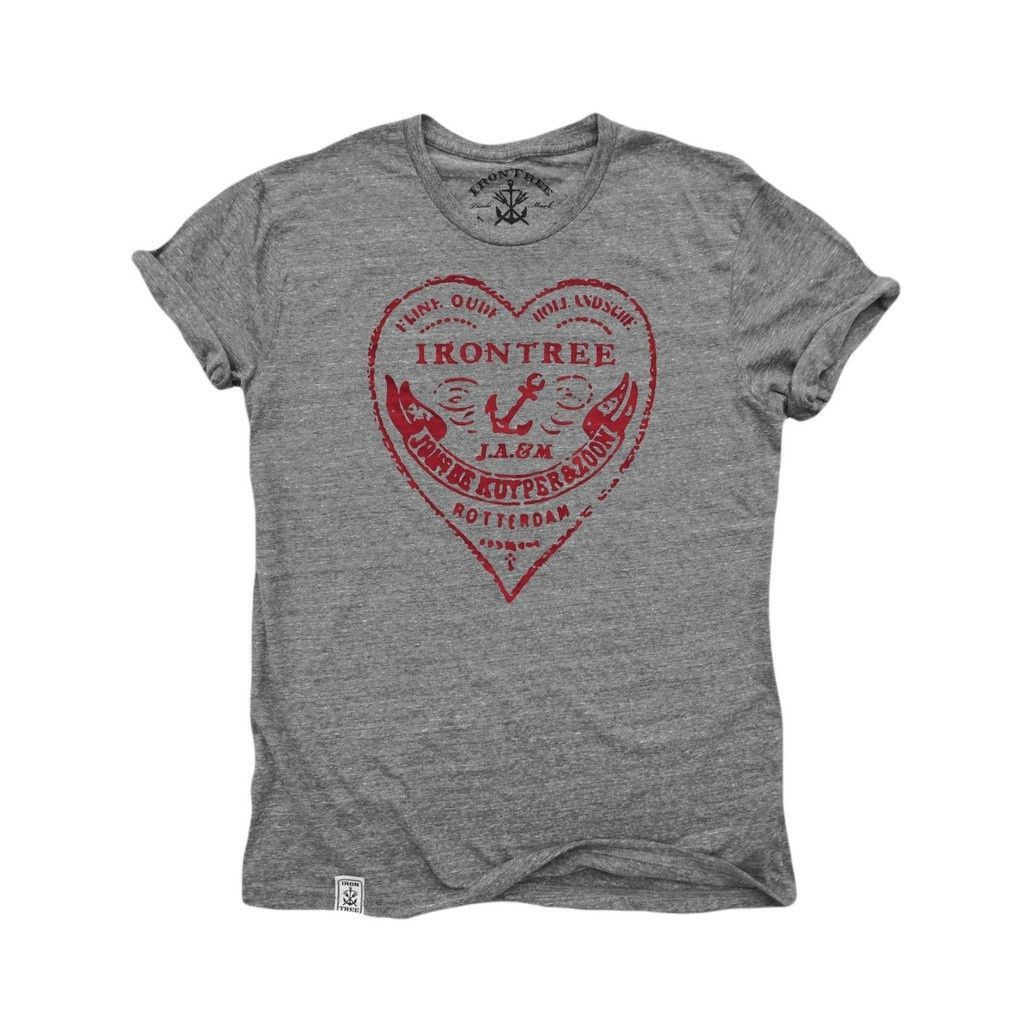 The Heart of Rotterdam: Tri-Blend Short Sleeve T-Shirt in Tri Vintage Grey