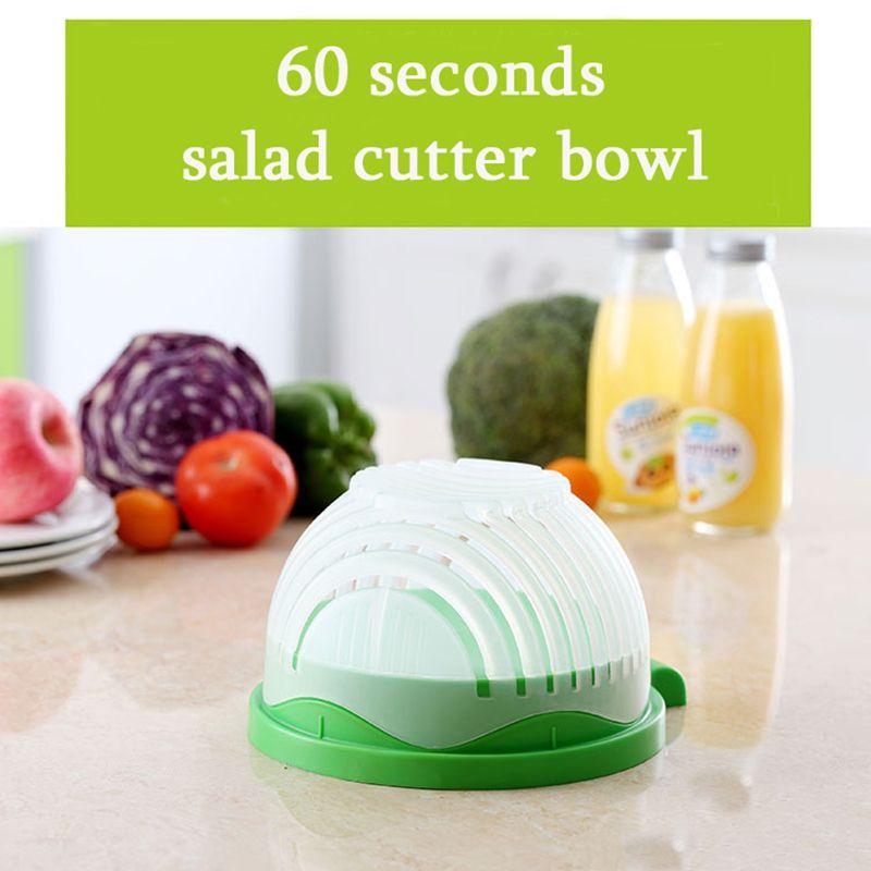 Salad Cutter Bowl Kitchen Gadget Vegetable Fruits Slicer Chopper