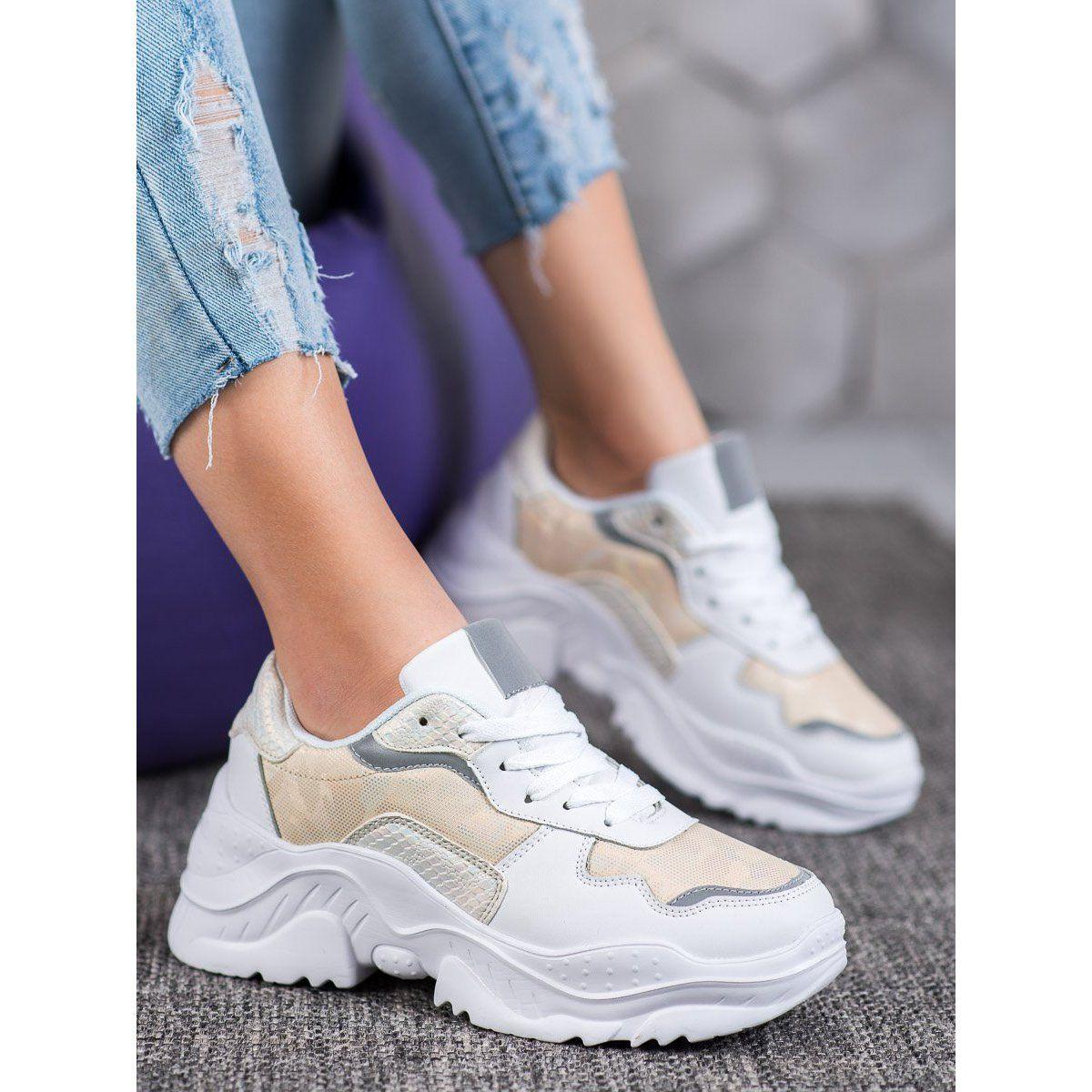 Shelovet Lekkie Sneakersy Biale Sneakers Nike Air Max Sneakers Fashion