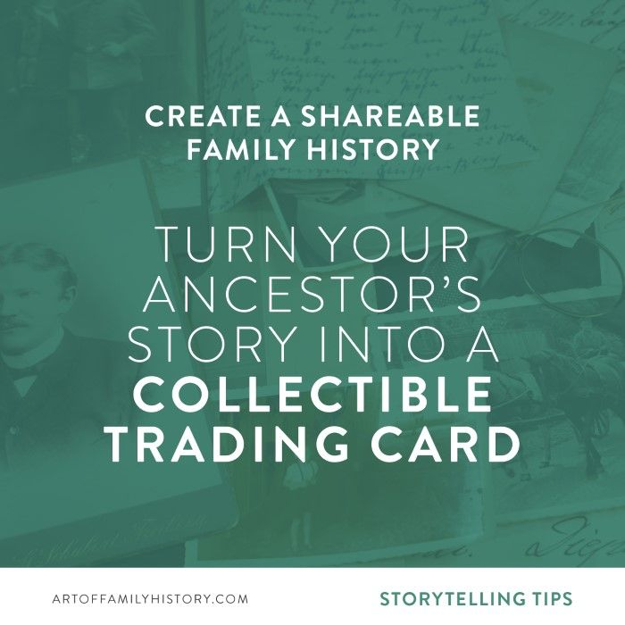 Create A Shareable Family Historyby Turning Your Ancestor