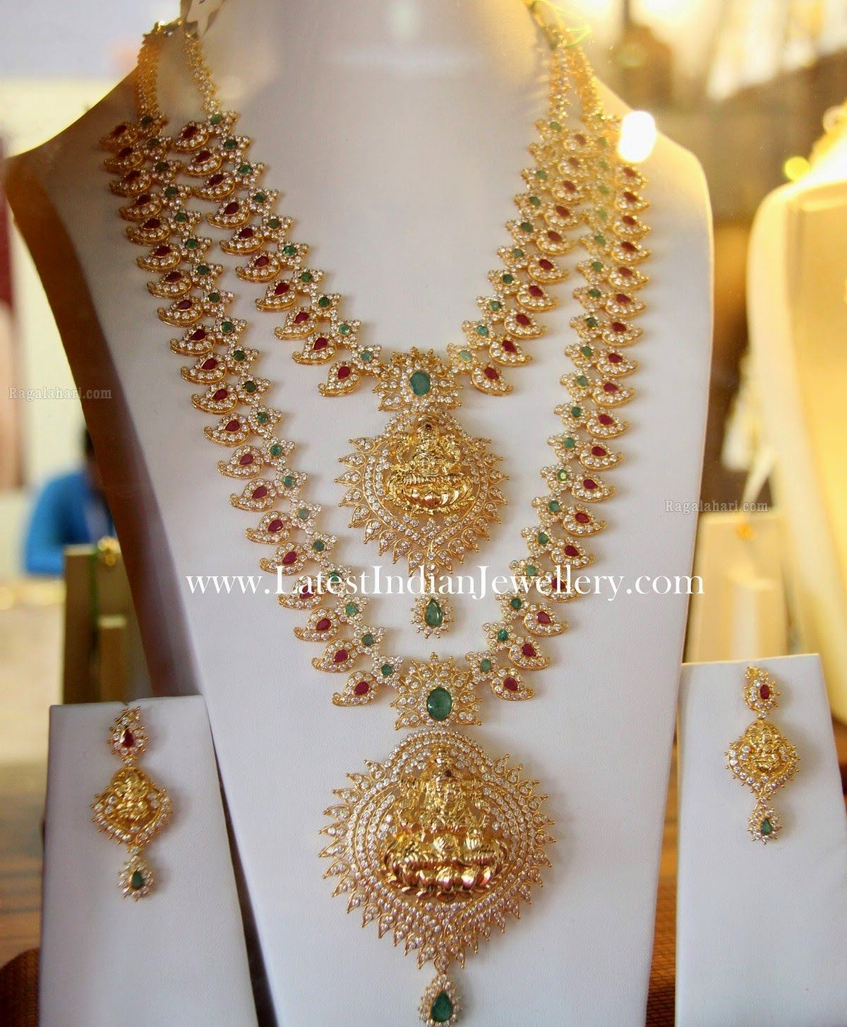 Mango Mala Necklace And Haram Set  Latest Indian Jewellery Designs