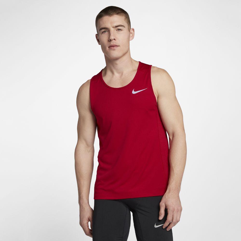 Nike cool miler menus running tank size medium red apparel