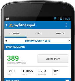MyFitnessPall Android App