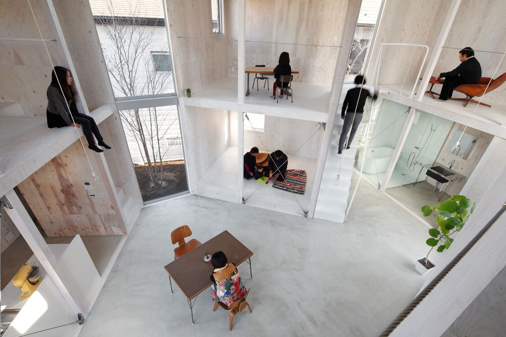 Living container by Kentaro Yamazaki, interior Architecture