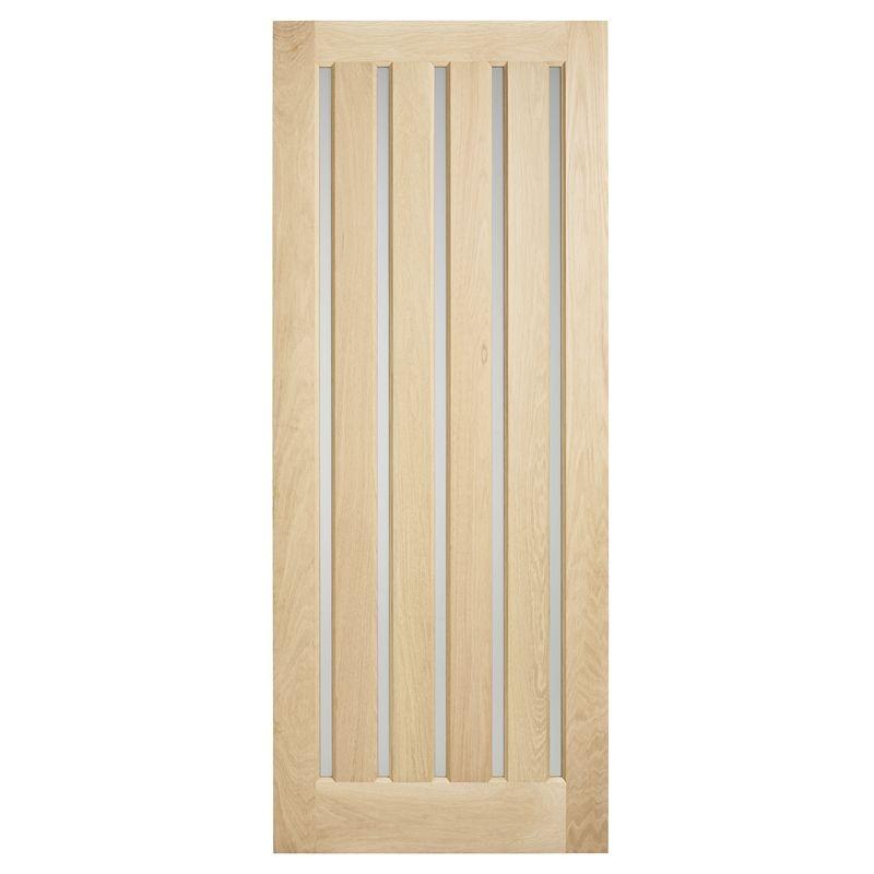 Corinthian Doors 2040 X 820 X 40mm Blonde Oak Awo 5vg Opaque Glass Entrance Door Glass Entrance Doors Exterior House Colors Interior Styling