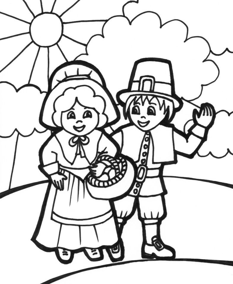 Thanksgiving Day Celebration Thanksgiving Coloring Pages Free