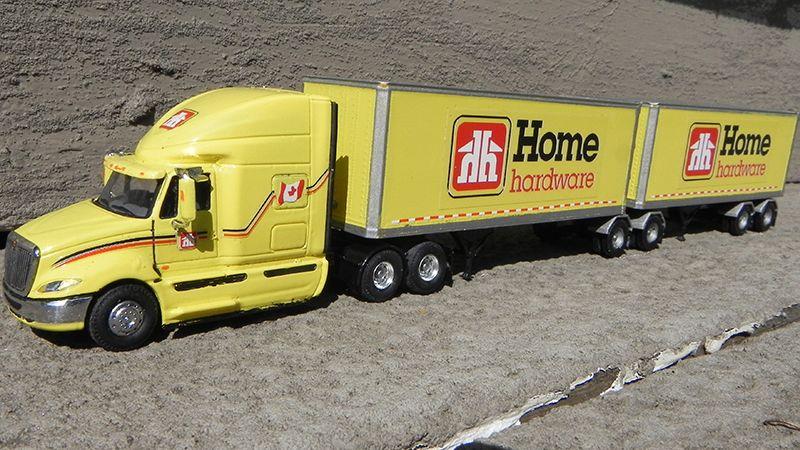 Home Hardware International Prostar Truck Tractor B Train Vans By Jim Groeneweg Trucks Hot Wheels Cars Toy Trucks