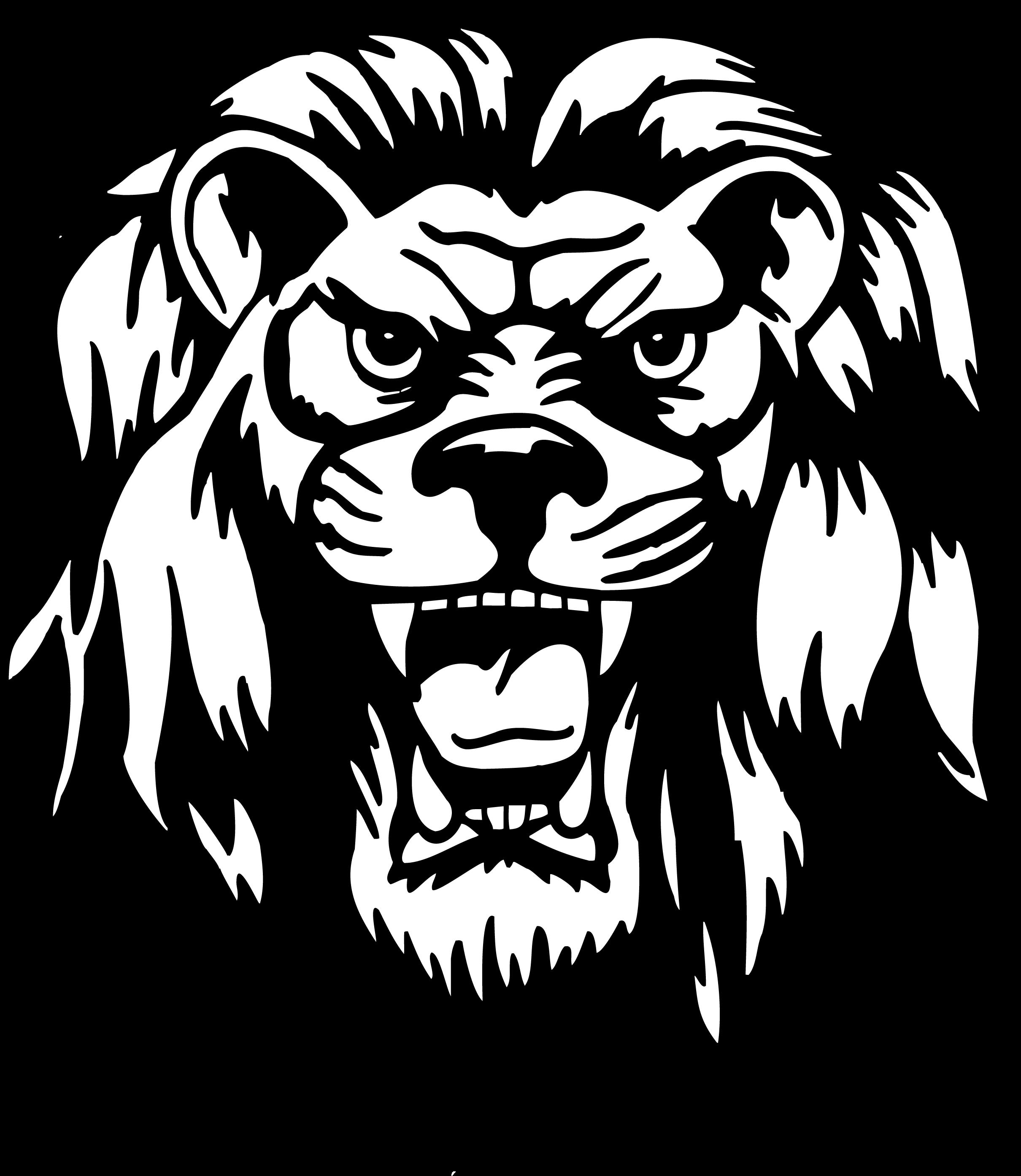 Lion Head Vector Png Liberty Lions 2420x2789 Black And White Lion Cartoon Lion Lion Head