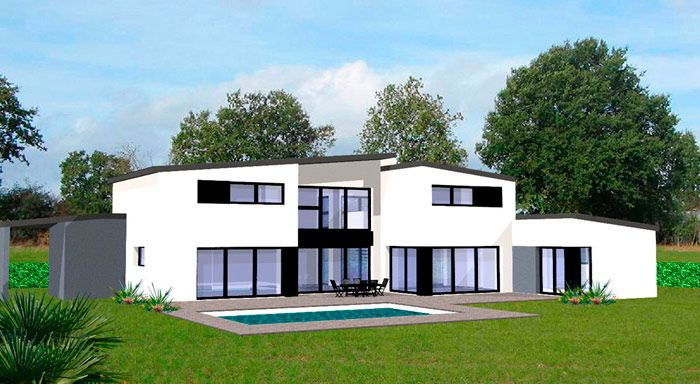 Plan maison moderne avec veranda 1 maisons contemporaines pinterest meilleures id es plan for Plans de maisons contemporaines