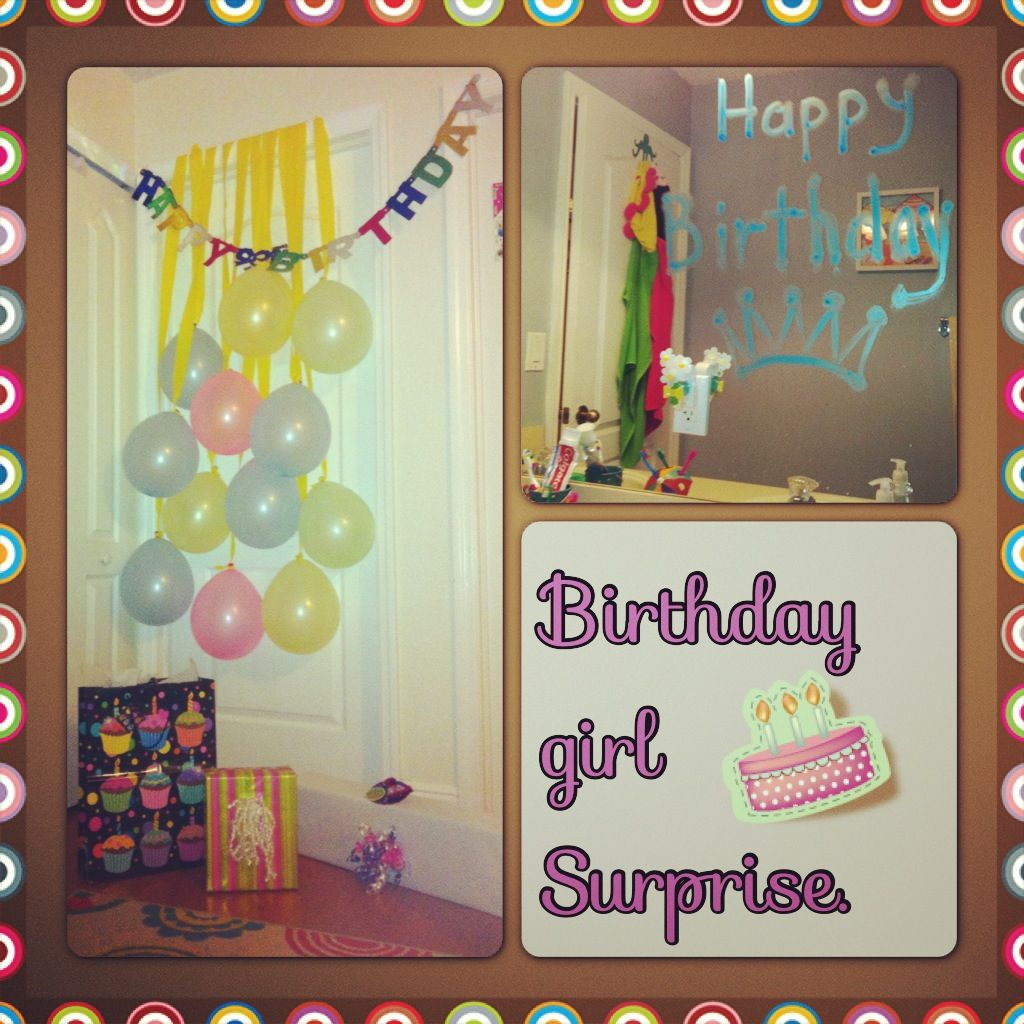 Decorated Door Idea Surprise For My Birthday Girl 13th Birthday Parties Girl Birthday Birthday