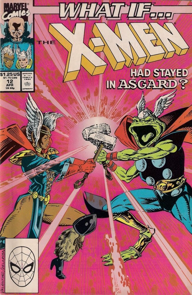 What If Vol 2 12 The X Men Had Stayed In Asgard Signed By Jim Valentino Comic Book Covers Comics Marvel Comics