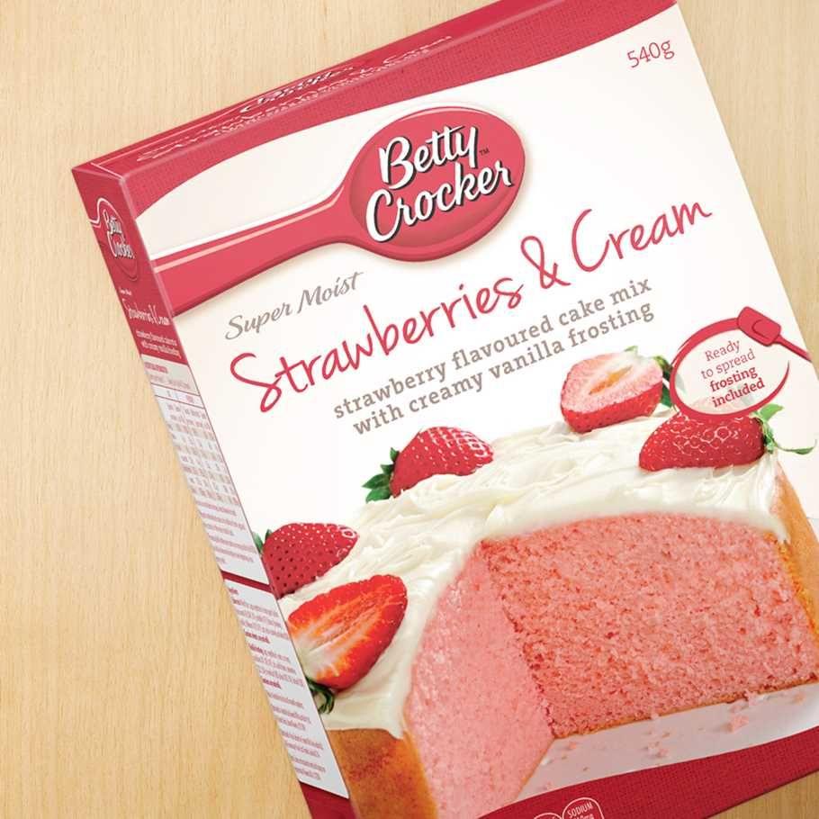 Strawberry Cake Mix Cookies Betty Crocker Baking Mixes Frosting