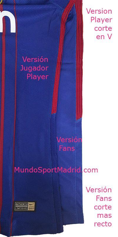 Diferencias Camiseta Barcelona Vapor Match vs Camiseta Barcelona Dri ... f1d9dd0397f