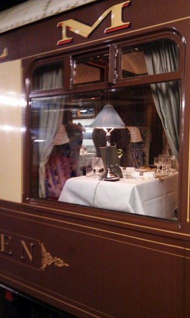 ~~~ Dad, I wish we could have taken that trip together... ~~~ The ultimate art deco luxury - dinner on the Orient Express.