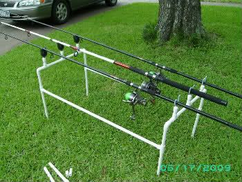 Pvc projects fishing hunting pinterest pvc for Homemade fishing rod holders for bank fishing