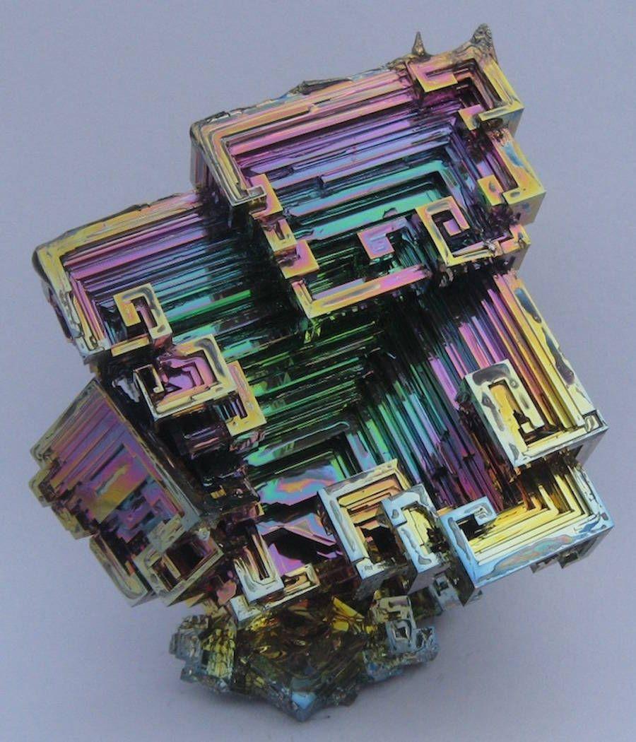 Medium Bismuth Crystal Specimen grown in USA