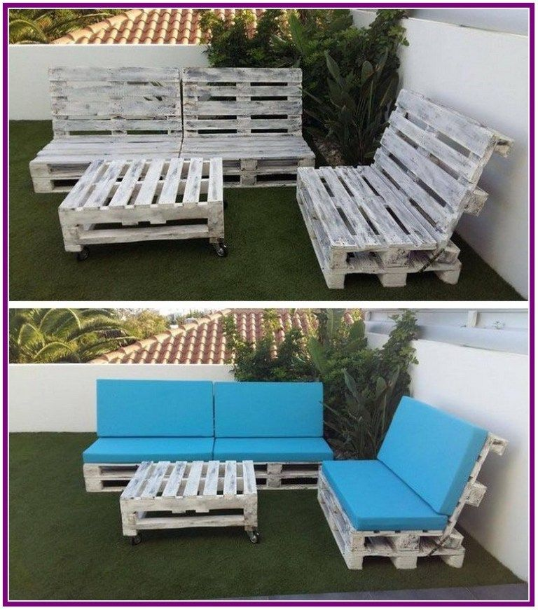 27 Pallets Outdoor Sofa And Table On Casters 00027 Aux Pays Des Fleurs Com In 2020 Pallet Furniture Outdoor Pallet Garden Furniture Pallet Patio Furniture