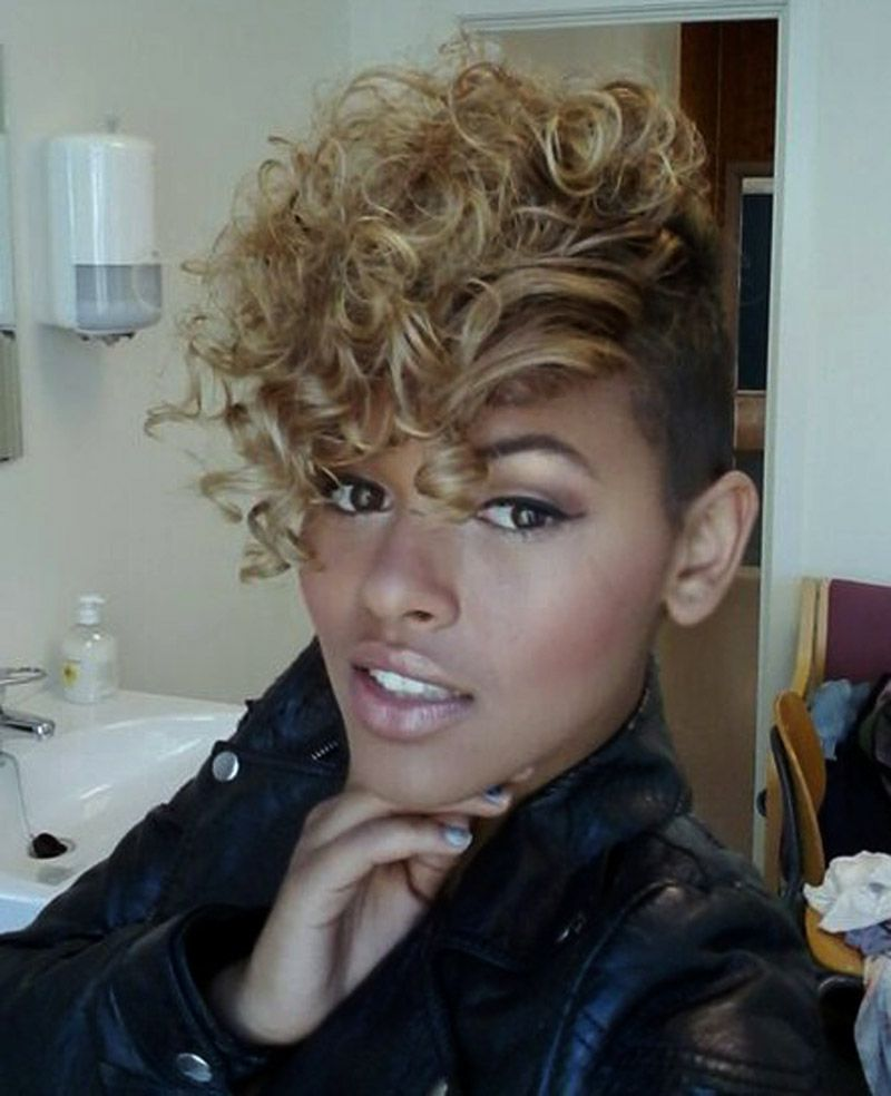 New short mohawk hairstyles for black women short curls