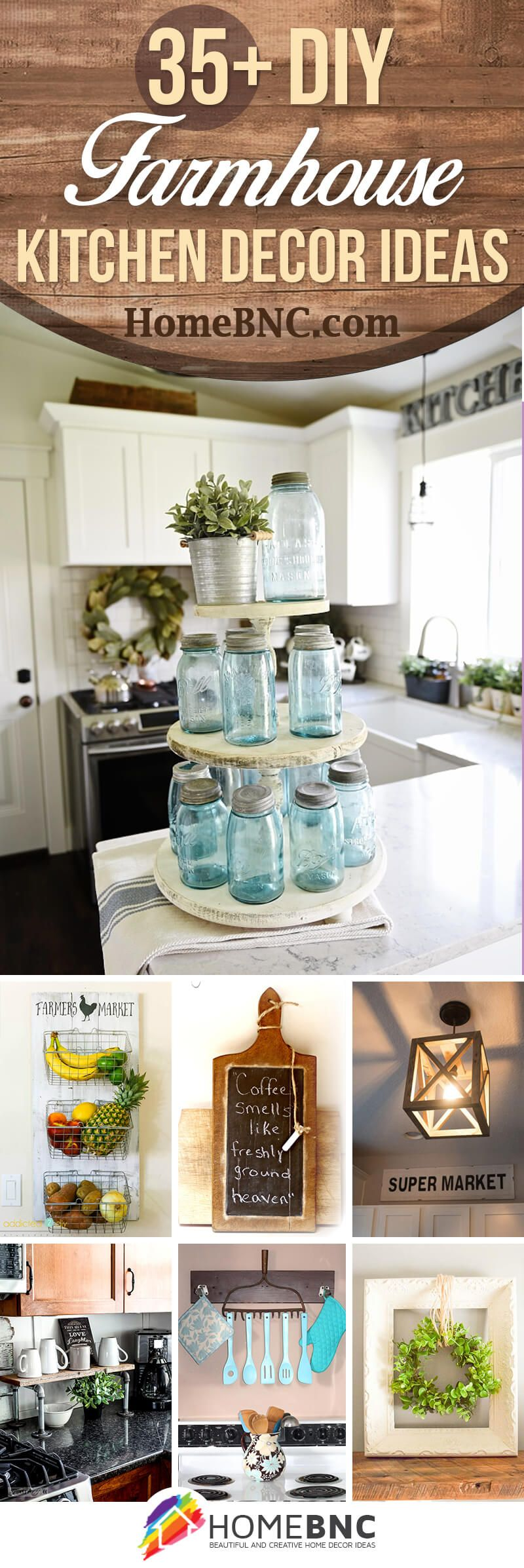 35 Diy Farmhouse Kitchen Decor Projects To Upgrade Your Kitchen On A Budget Farmhouse Kitchen Decor Diy Kitchen Decor Diy Farmhouse Decor