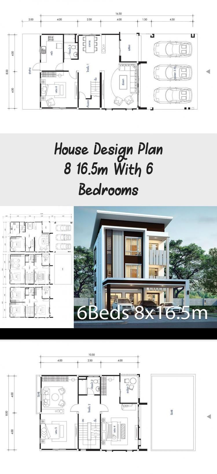 House Design Plan 8 16 5m With 6 Bedrooms In 2020 Home Design Plans Beach House Plans Unique House Plans