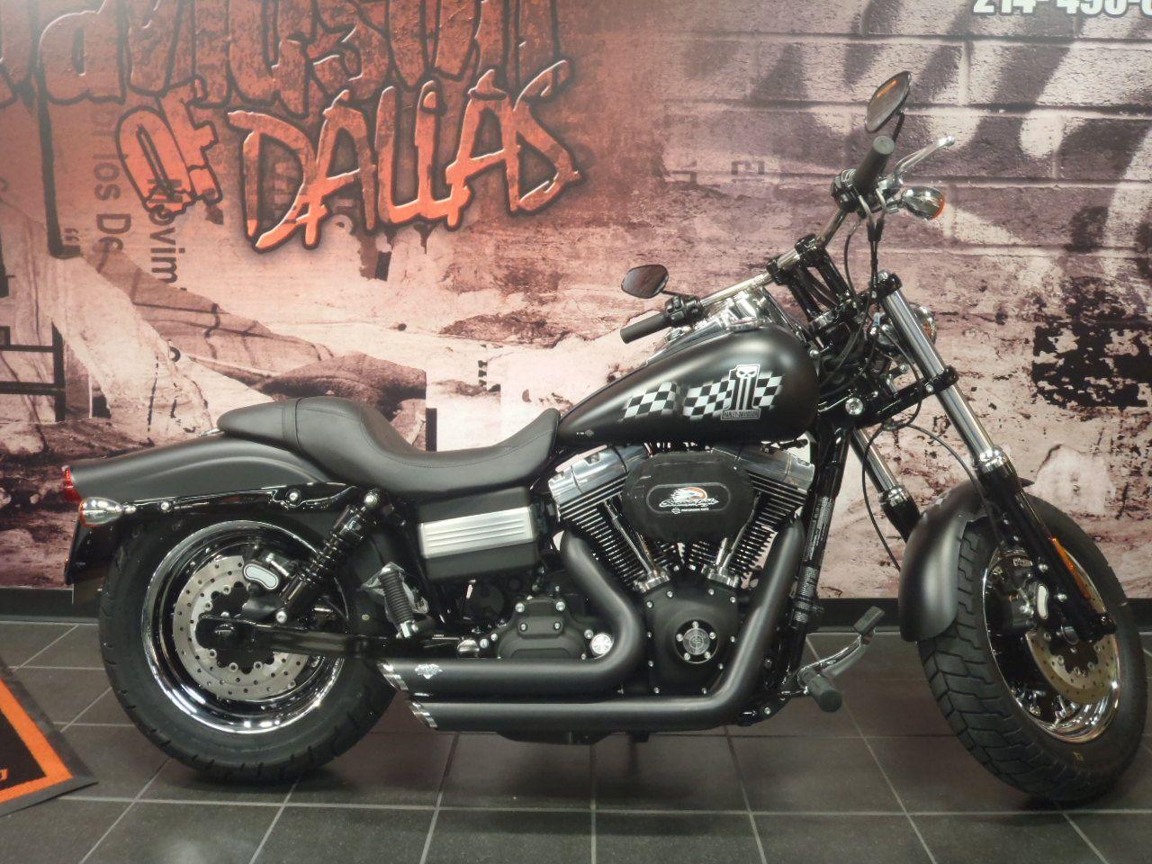 Harley-Davidson Custom Dyna Fat Bob - Race inspired FXDF! Want one just  like it? Call Chris! 214-495-0259! #Harley #HarleyDavidson #motorcycle  #race #custom ...