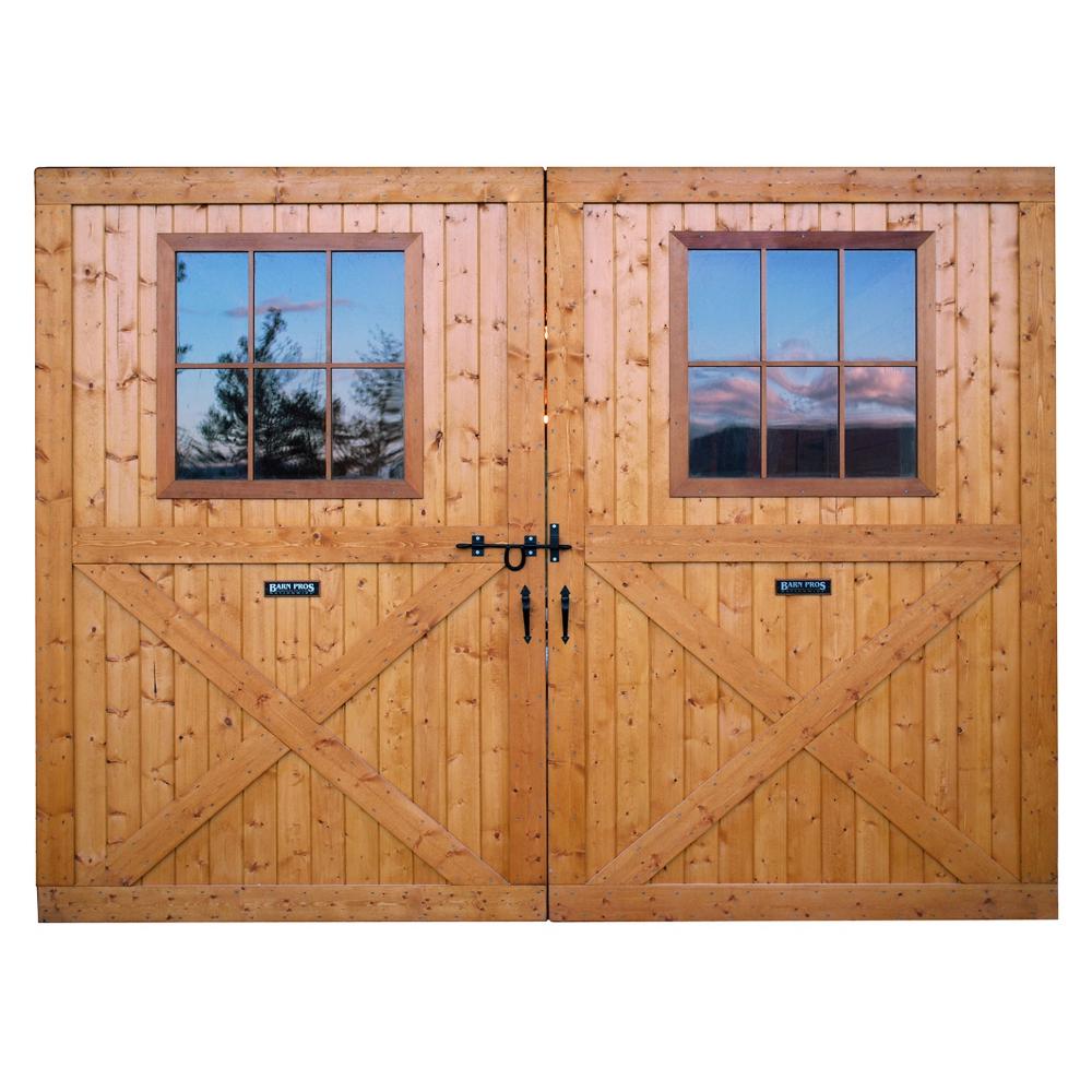 Large Breezeway Sliding Track Barn Doors With Window Barn Door Window Barn Windows Barn House Kits