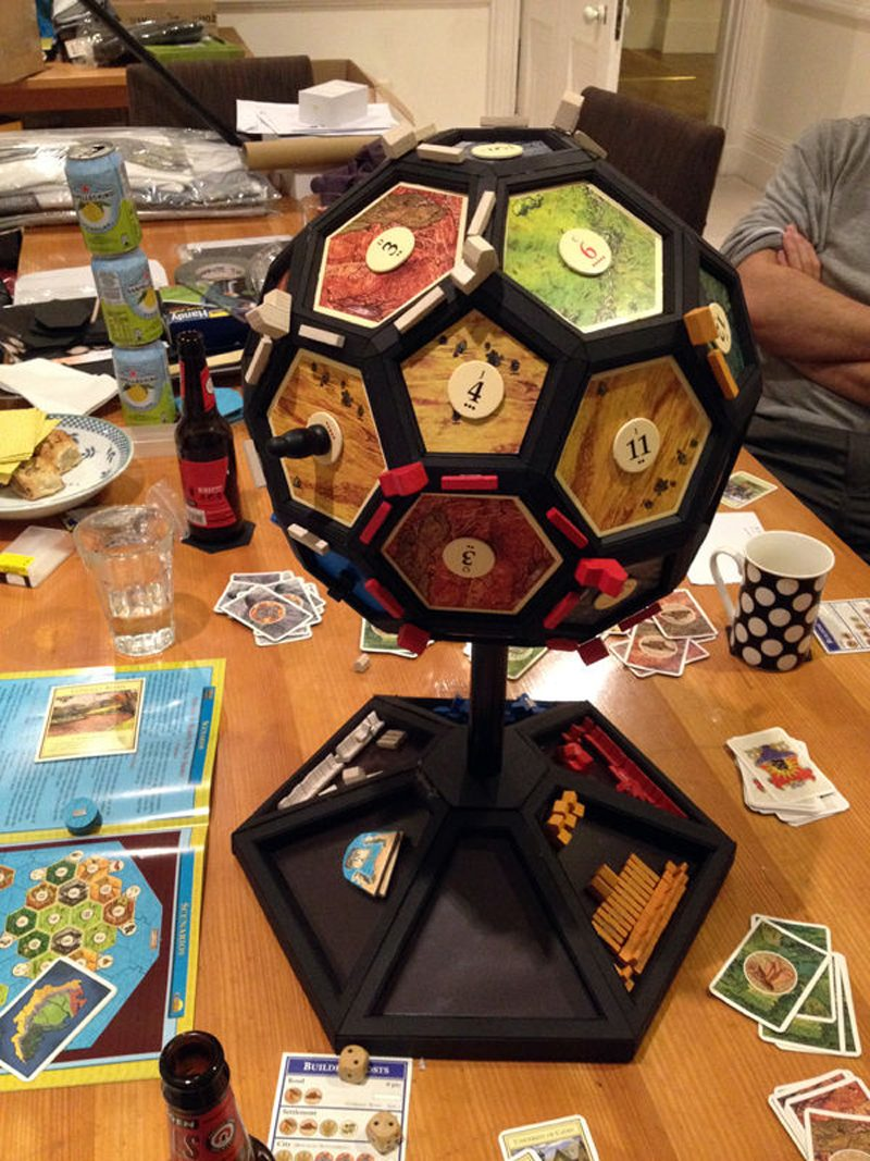 Catan 3D 4D Edition Instructions on making a Catan globe