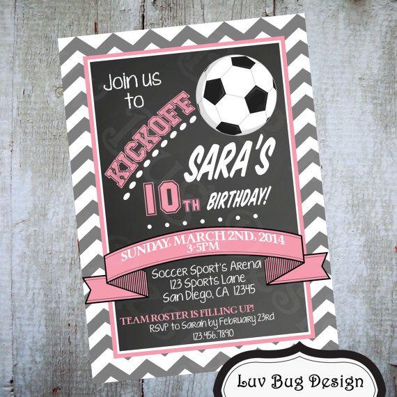SOCCER Birthday Party Printable by luvbugdesign on Etsy, $14.00