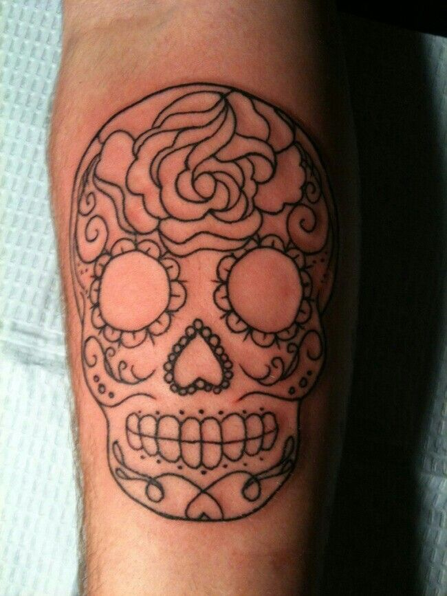 Simple Cute Sugar Skull Tattoo Sugar Skull Tattoos Tattoos
