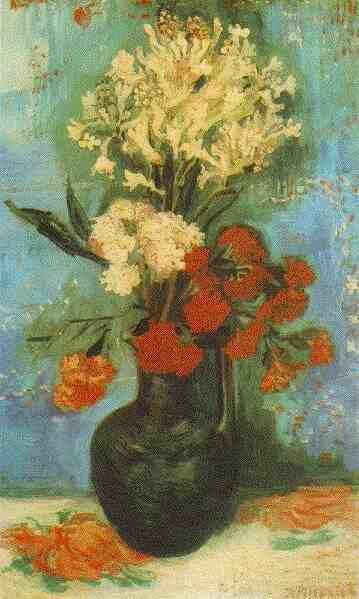 """Friends of Vincent on Twitter: """"Vase with Carnations and Other Flowers Summer, 1886 Oil on canvas Washington, D.C., Kreeger Museum https://t.co/7h77Nz7f3b"""""""
