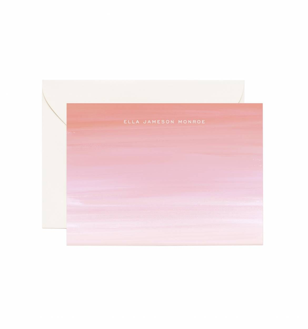 Ombré Personalized Flat Note Cards