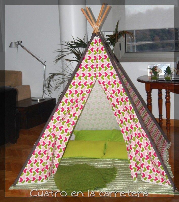 Pin de ana parra en diy crafts teepee kids teepee for Como hacer un criadero de carpas