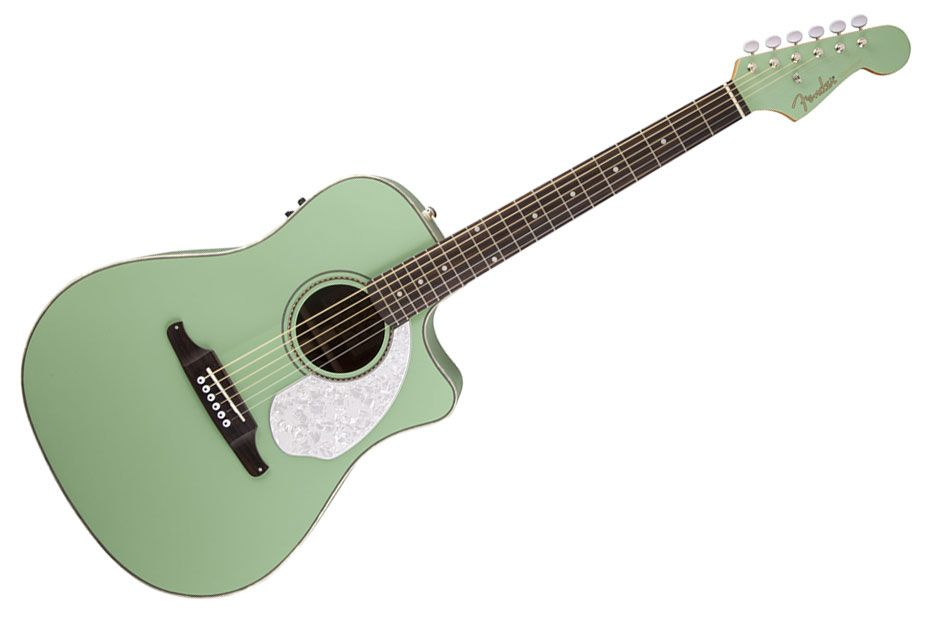 Fender Sonoran Sce Surf Green Guitare Electro Acoustique Guitare Acoustique Guitare