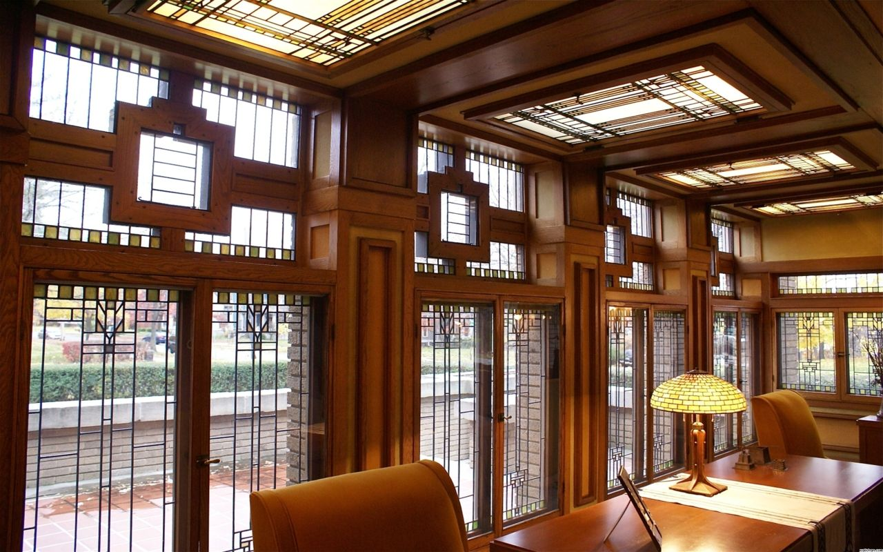 Frank Lloyd Wright designed the Meyer May House (1909), Grand Rapids,  Michigan