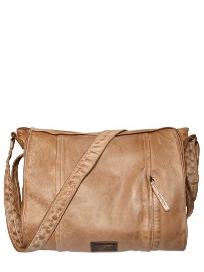 a9ab0e3677 SALVATORE FERRAGAMO - CRACKED LEATHER MESSENGER BAG  991.74