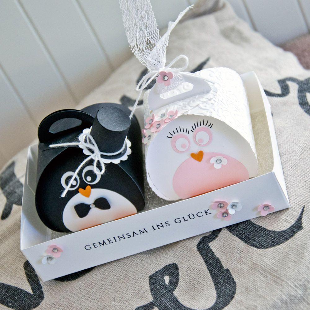 Ein zuckersüßes Pinguin-Brautpaar | Andenken, Geschenk und Hochzeit