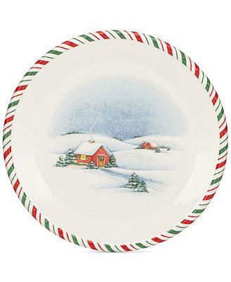 Kathy Ireland Once Upon A Christmas Dinner Plate Christmas Dinner Plates Christmas Tableware Kathy Ireland