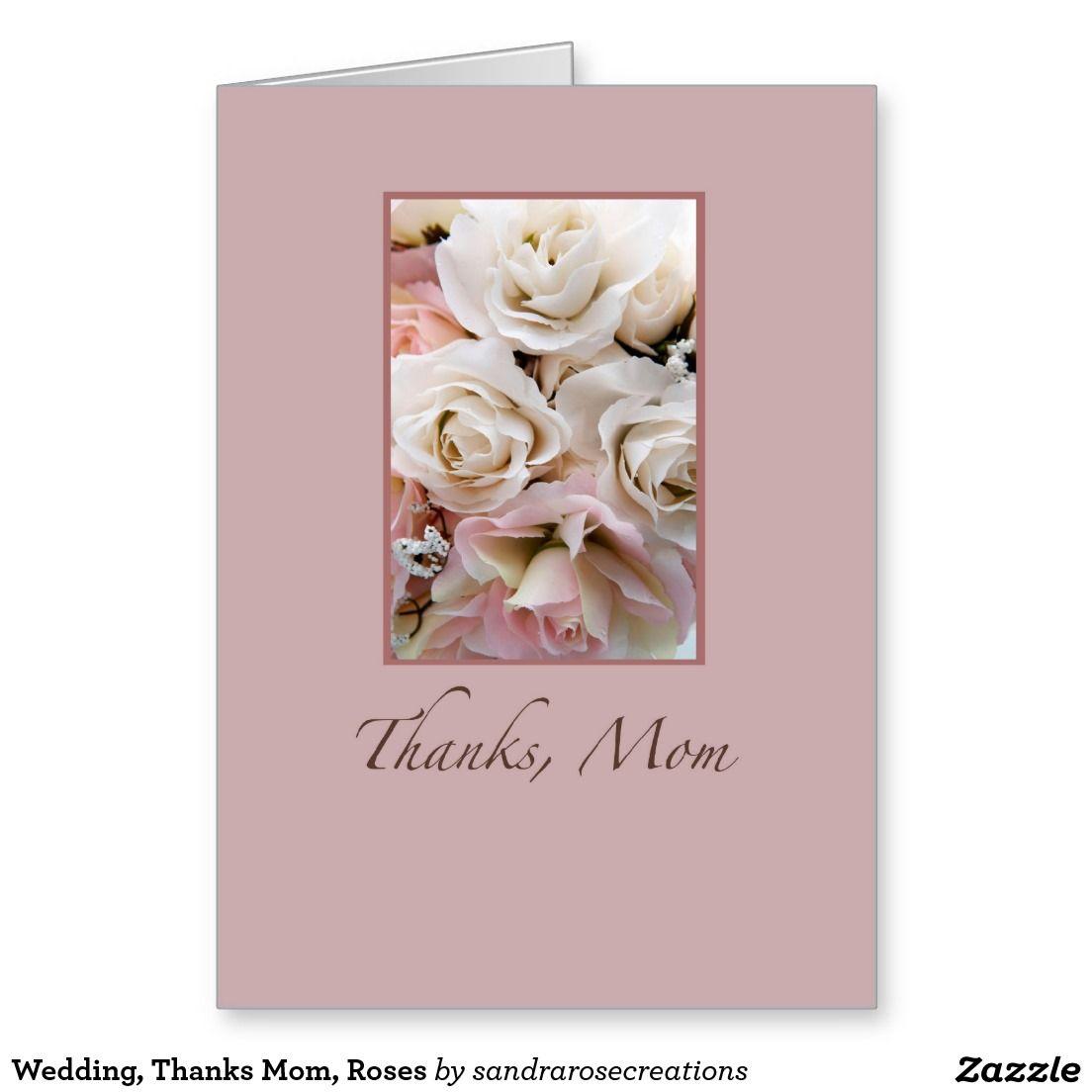Wedding thanks mom roses greeting card wedding connection wedding thanks mom roses greeting card kristyandbryce Images